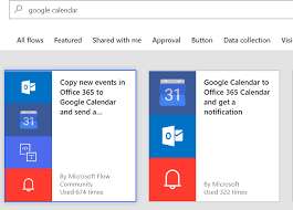 Flow Template Push Your Outlook Calendar To Google Calendar With Microsoft