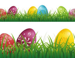 Easter Eggs Hunt Background With Grass Royalty Free Vector
