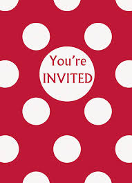 Polka Dot Invitations Red Polka Dot Party Invitations 8ct