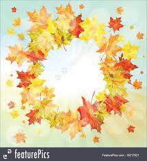 autumn frame royalty free stock ilration