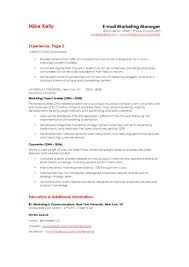 Manager Resume Marketing Sample Ski Peppapp