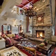 Lodge Living Room Decor Modern Living Room Design Ideas Presenting Stone Fireplace Design