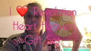 i revolution heart heaven gift set unboxing swatches review gift set 2018