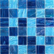 blue tiles. Modren Tiles Aquatic Ocean Blue 2x2 Square Glass Tile Throughout Tiles TileBarcom