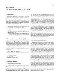 Appendix H San Diego California Case Study Sharing Information