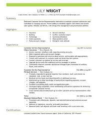 customer service representative resume example example resume customer service