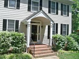 Front porch portico, fiiber cement siding replacement traditional-exterior