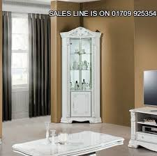 italian white furniture. prestige italian whitesilver corner unit with diamante insert luxury furniture ebay white