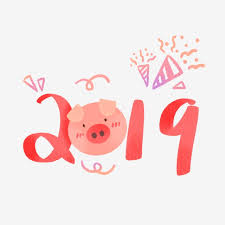 Hand Drawing 2019 Chinese Year Of Pig, Cute, Hand Drawing, 2019 PNG ...