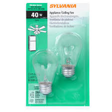 sylvania 2 pack 40 watt dimmable soft white a15 incandescent appliance light bulbs