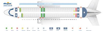 Seat Map Airbus A320 200 Allegiant Air Best Seats In The Plane