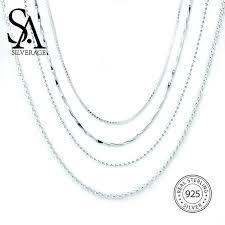 <b>SA SILVERAGE S925 Silver</b> Necklace Birthday Gift Pendant S925 ...