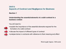 unit aspects of contract law and negligence assignment