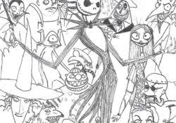 Nightmare Before Christmas Characters Archives How Coloring Pages