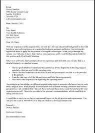 Cover Letter Surgical Technologist Student Awesome Collection Of