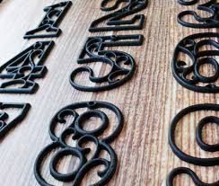 Decorative Door Hangers House Numbers Cast Iron Black Wall Hangers Decorative