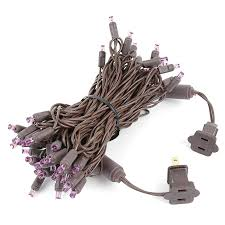 brown wire wide angle purple 50 bulb led christmas lights sets picture of 50 led purple led christmas lights on brown wire