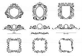 ヴィンテージ装飾フレーム要素のセットですカリグラフィの装飾罫線と枠が