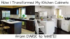 how to paint kitchen cabinets from dark
