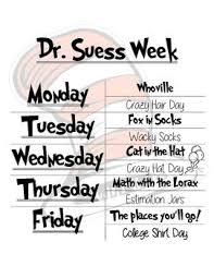 A whole week of school wide dr Seuss inspired activities furthermore  besides Dr  Seuss's Birthday  Thing 1 and Thing 2 Activities   Best of as well  together with dr  seuss flyers   Dr Seuss Spirit Week Flyer   dr  seuss in addition Free Printable   Cat in the Hat  Hat  in either color or black additionally 208 best Dr  Seuss images on Pinterest   Dr suess  School and Beds further  additionally  together with Best 25  Celebrating dr seuss birthday ideas on Pinterest   Dr as well Freebie Open Ended Math Question for Read Across America Dr  Seuss. on best dr seuss activities images on pinterest book ideas reading day room hat trees theme worksheets march is month math printable 2nd grade