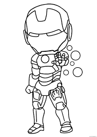 Small Picture iron man mini superheros Coloring pages Printable