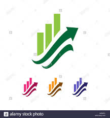 Stock Chart Up Chart With The Arrow Up An Abstract Business Finance