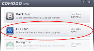 The scanner will start and first check whether your virus signature  database is up-to-date.