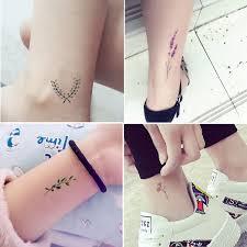 Wyuen цветы водонепроницаемые временные тату наклейки для взрослых детей боди арт