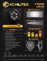 kc hilites 1300 4″ round lzr led 24w single driving led light no kc hilites 1300 4 round lzr led 24w