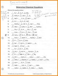 extraordinary 4 balancing equations worksheet letter format for balancing equations solu chemical equations worksheet worksheet um