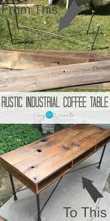 rustic and industrial coffee table this project is a super easy