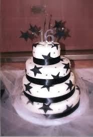 Starry Sweet 16 Birthday Cake