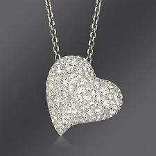 swarovski crystal alana heart pendant