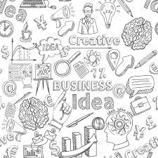 pattern idea creative background seamless pattern with business idea symbols