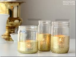 Decorate Jar Candles Gold Dipped Jars Mason Jar Crafts Love 62