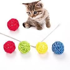 <b>5pcs Pet</b> Cat <b>Parrot</b> Toy Rattan Bite Resistance Colorful Chewing ...