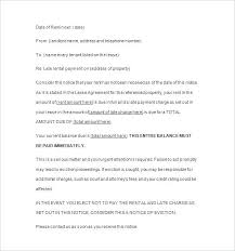Late Payment Notice Template Rent Letter Tenant Interest Invoice