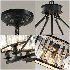 Us 2615 50 Offvintage Loft Stil Kristall Leuchte Bronze Schwarz Kristall Kronleuchter Lampen Lampenschirm Für Wohnzimmer E14 Led Lampe In