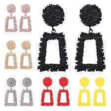 <b>HOCOLE Fashion</b> Gold <b>Metal Drop</b> Earrings For Women Statement ...