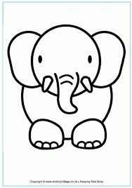 Get This Free Printable Cute Baby Elephant Coloring Pages For Kids