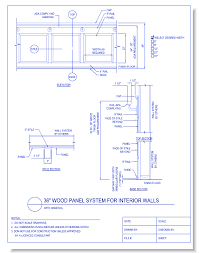 dwg36 inch wook panel system for interior walls with handrail