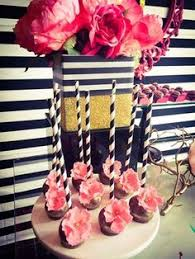 awesome cake pops at a black white pink and gold birthday party see awesome black white
