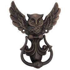 design toscano mystical spirit owl authentic foundry door knocker wayfair