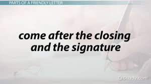 How To Write A Friendly Letter Format Parts Example Video