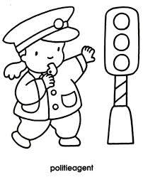 Kleurplaat Politieagent Social Emotional Skills Kindergarten