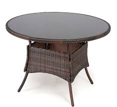 outdoor round dining table. Outdoor Round Rattan Table Glass Top Garden Furniture Patio Dining New