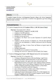 Sample Of Resume For Secretary Best Company Secretary Resume Page 1