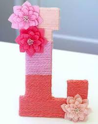 diy yarn wrapped monogram letters easy teen room decor ideas for girls