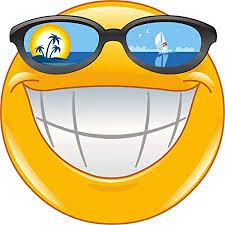 Amazon.fr : - 10 cm – Autocollant de qualité supérieure Emoji Smiley en  vacances pour voiture et moto – Autocollant amusant Gag E29