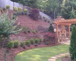Steep Backyard Decor